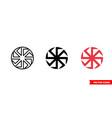 kolovrat slavic symbols icon 3 types color