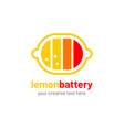lemon battery logo vector image vector image