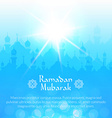 Light landscape wallpaper with mosques vector image vector image