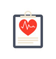 medical report icon vector image vector image
