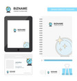 mirror business logo tab app diary pvc employee vector image vector image