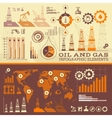 Oil and Gas infographic vector image vector image