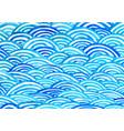 oriental art ocean wave watercolor hand painting vector image