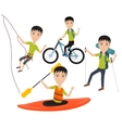 Outdoor sport and active lifestyles vector image vector image