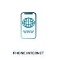 phone internet icon flat style icon design ui vector image