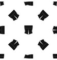 pocket pattern seamless black vector image vector image