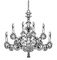 rich baroque chandelier luxury decor accessory vector image vector image