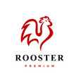 rooster logo icon vector image