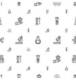 scientific icons pattern seamless white background vector image vector image
