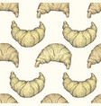 seamless pattern with croissant fresh vector image