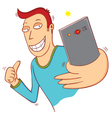 selfie time vector image vector image
