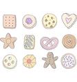 Set of fancy cookies vector image vector image