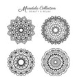 set of mandala decorative vector image vector image
