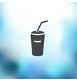 soda icon on blurred background vector image