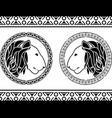 stencils of lion head vector image vector image