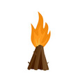 tepee fire icon flat style vector image