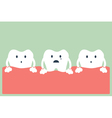 tooth periodontal disease vector image vector image