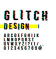 trendy style distorted glitch typeface letters vector image vector image