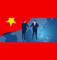 vietnam international partnership diplomacy vector image vector image