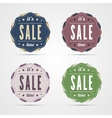 Vintage sale time badges vector image vector image