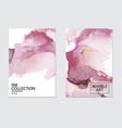 vip luxury design marble watercolor splash pink vector image vector image
