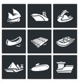 Water transport icons set vector image vector image