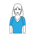 woman smiling profile vector image vector image
