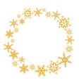 wreath of christmas snowflakes splash of a random vector image vector image