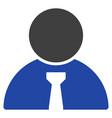 boss flat icon vector image