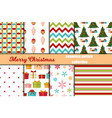 christmas seamless pattern merry christmas and vector image