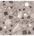 Monochrome vintage geometric pattern vector image