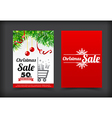 013 Collection of merry christmas coupon card vector image vector image