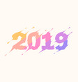 2019 logo new year lettering for print web vector image