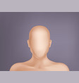 3d realistic human model head without face vector image