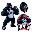 angry gorilla mascot standing vector image