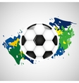 ball soccer olympic games brazilian flag colors vector image vector image