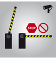 barrier with cam and signs eps10 vector image vector image