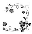 beautiful floral background in black and white vector image vector image