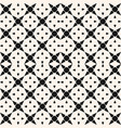 black and white geometric mosaic seamless pattern vector image