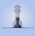 black pawn becomes queen vector image vector image