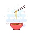 Bowl of noodles vector image vector image