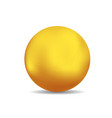 bronze or gold spheres or ball vector image vector image