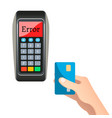 card payment error vector image