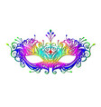 carnival mask icon colorful silhouette isolated vector image