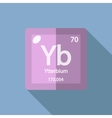 Chemical element Ytterbium Flat vector image vector image