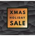 Christmas holiday sale poster vector image vector image