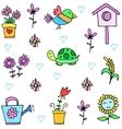 Collection stock of spring set doodles vector image vector image