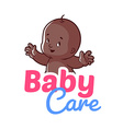 Cute toddler Baby care logo vector image vector image