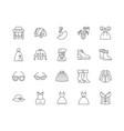 fancy dress line icons signs set outline vector image