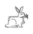 farming rabbit icon hand drawn icon set outline vector image